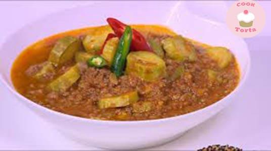 طريقه عمل الكوسه طبيخ باللحمه المفرومه الشيف حسن